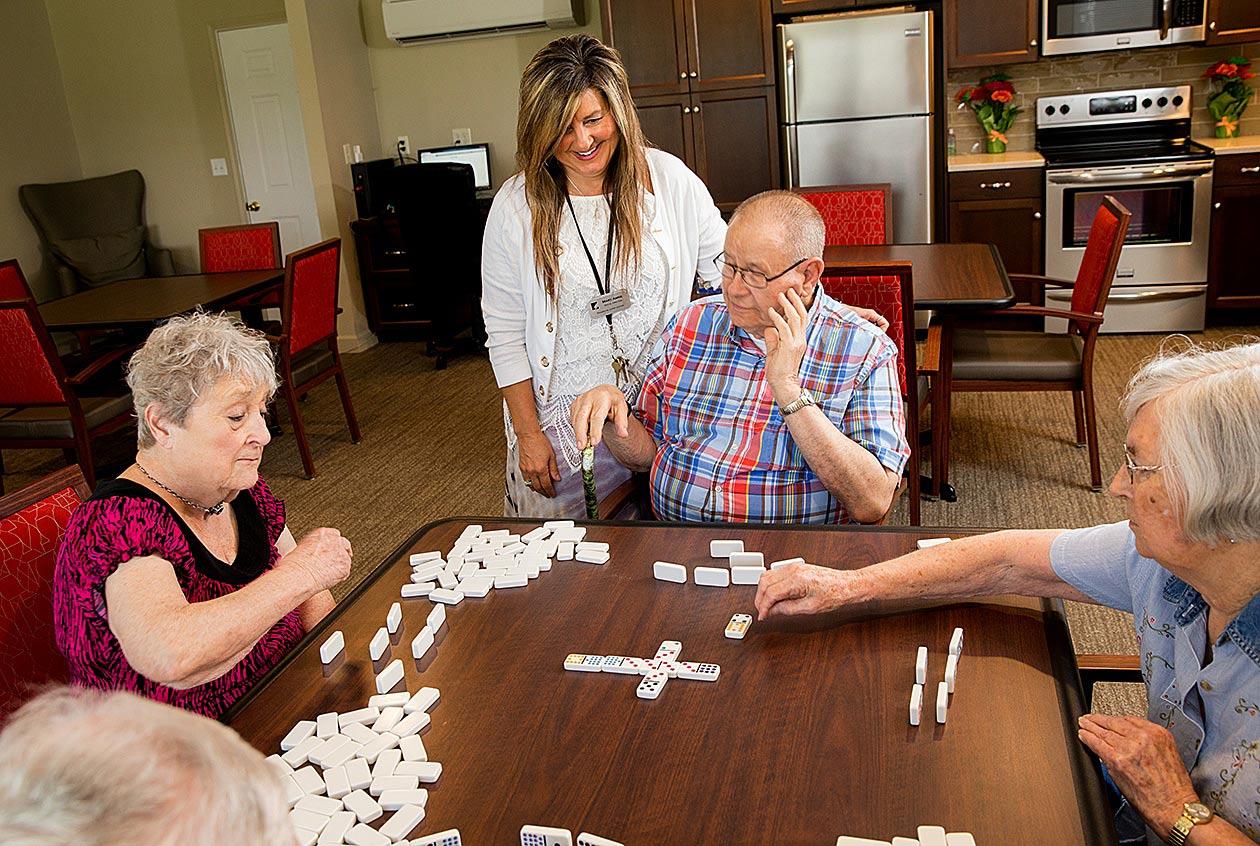 resident activity dominoes